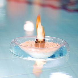 Schwimmende Feuerschale