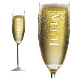 Flte  champagne avec gravure personnalise