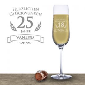 Sektglas zum Geburtstag