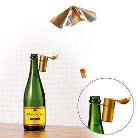 Parachute pour bouchon de champagne