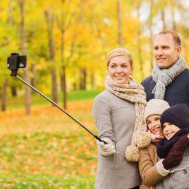 Selfie Stick  Support tlescopique pour portable jusqu 60cm