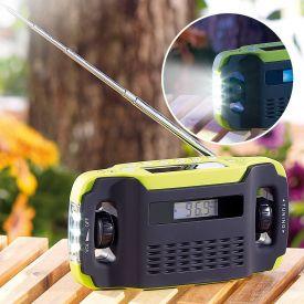 Solar Kofferradio mit Dynamo und Taschenlampe