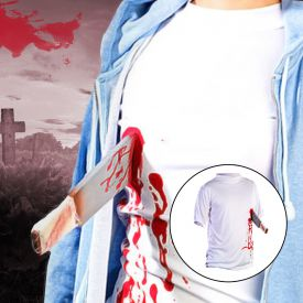 T-Shirt - Machete in der Brust