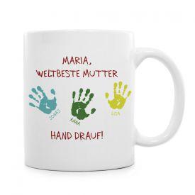 Tasse fr Mutter - Hand drauf