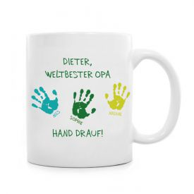 Tasse fr Opa - Hand drauf