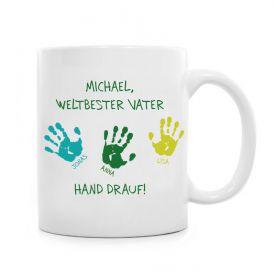 Tasse fr Vater - Hand drauf