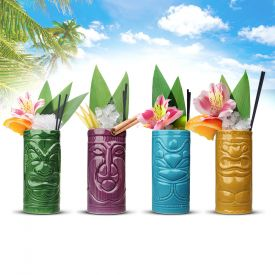 Mug Tiki - Set 4 pices