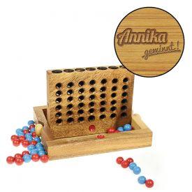 Vier in einer Reihe Strategiespiel - in edler Holzbox