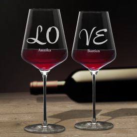 Verres  vin Love  Set de 2