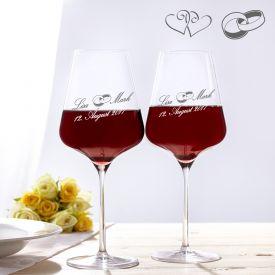 Weinglser zur Hochzeit