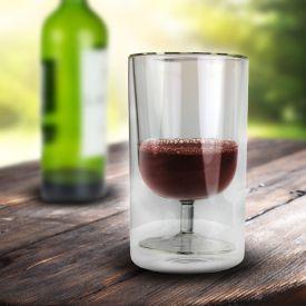 Weinglas im Glas