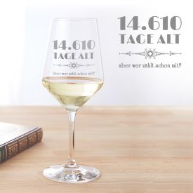 Weiweinglas personalisiert - Alter in Tagen