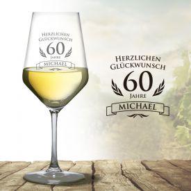 Weiweinglas zum 60. Geburtstag