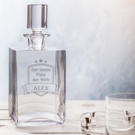 Carafe  whisky deluxe - Meilleur papa