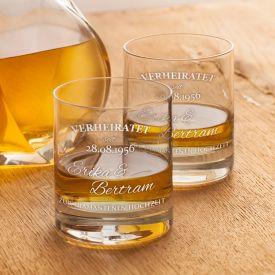 Whiskyglser zur diamantenen Hochzeit