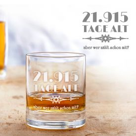 Verre  whisky avec gravure - Âge en jours