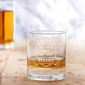 Verre  whisky avec gravure - Meilleur Papi
