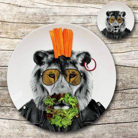 Assiette sauvage  Lion