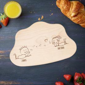 Planche  dcouper nuage avec gravure damour - 7e ciel