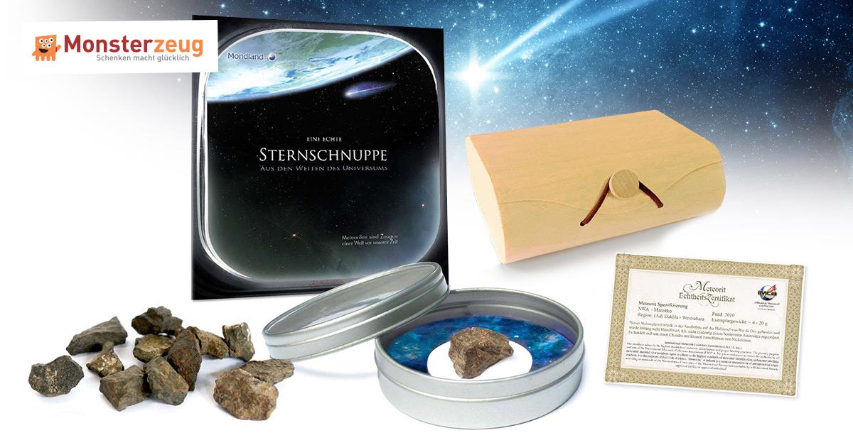 pers nliche sternschnuppe meteoritenst ck mit. Black Bedroom Furniture Sets. Home Design Ideas