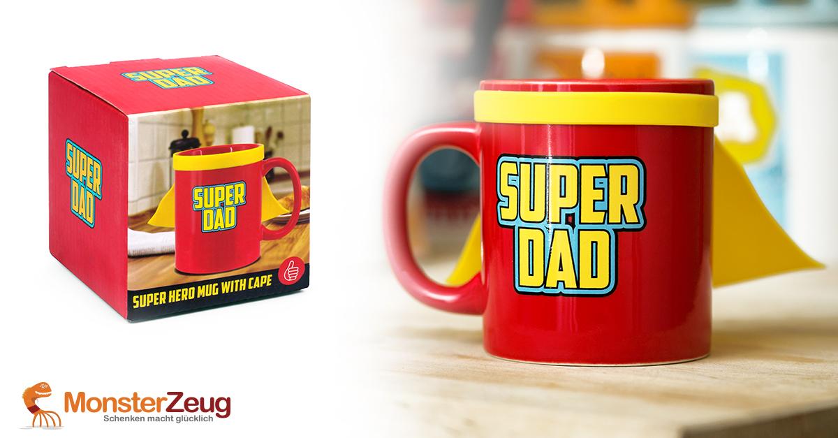 Tasse Super Dad mit Superheldenumhang
